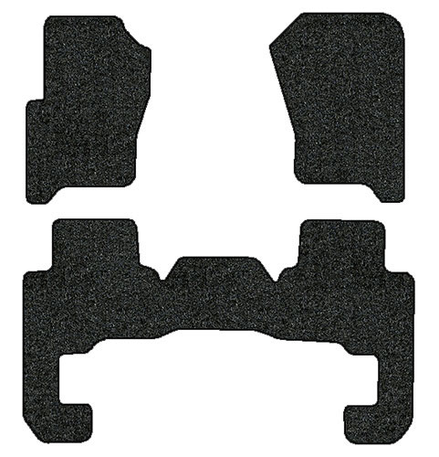 2005-2007 Land Rover LR3 3 pc Set Factory Fit Floor Mats (7 Passenger)