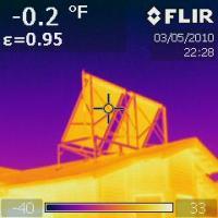 IR 0181 Solar hot water  panels not leaking heat