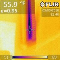 IR 0194 leakage around a honeycomb blind