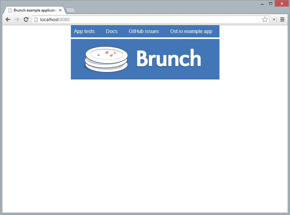 Screenshot of Brunch sample application running in Google Chrome