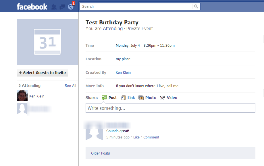 How to Safely Post a Facebook Party Invitation