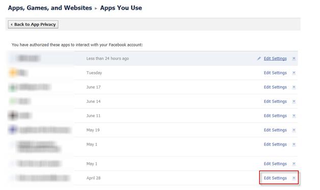 Facebook Apps Games and Websites Detail Dialog
