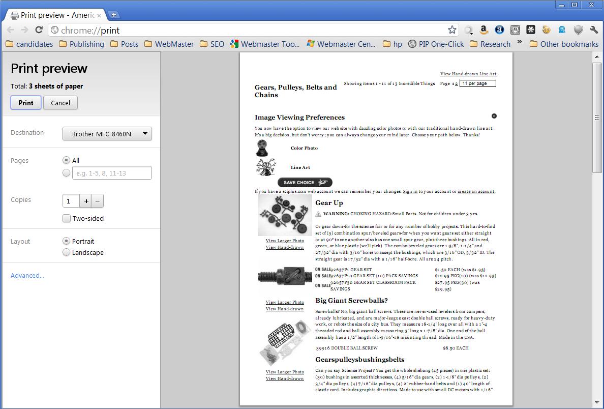 Chrome Print Preview Image
