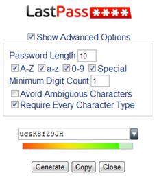 lastpass password generation
