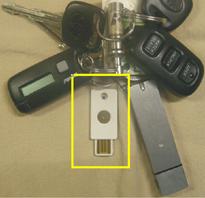 Yubikey image on keychain