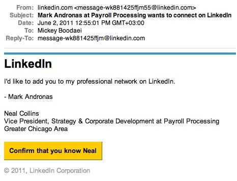 Fak LinkedIn Invitation