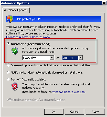 Xp updating install number