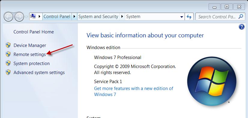 Windows 7 Security System Properties