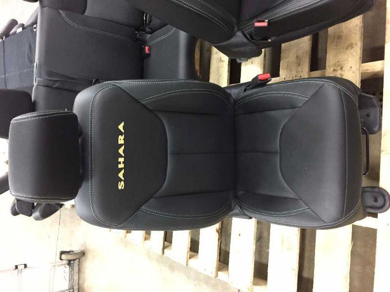 12 16 Jeep Wrangler Jk Sahara Black Leather Seats Set 4 Door 1769492 Ebay