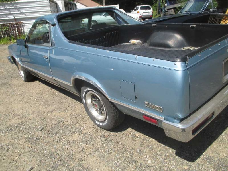1985 Chevy El Camino 60 40 Front Blue Cloth Seat Assm Ebay