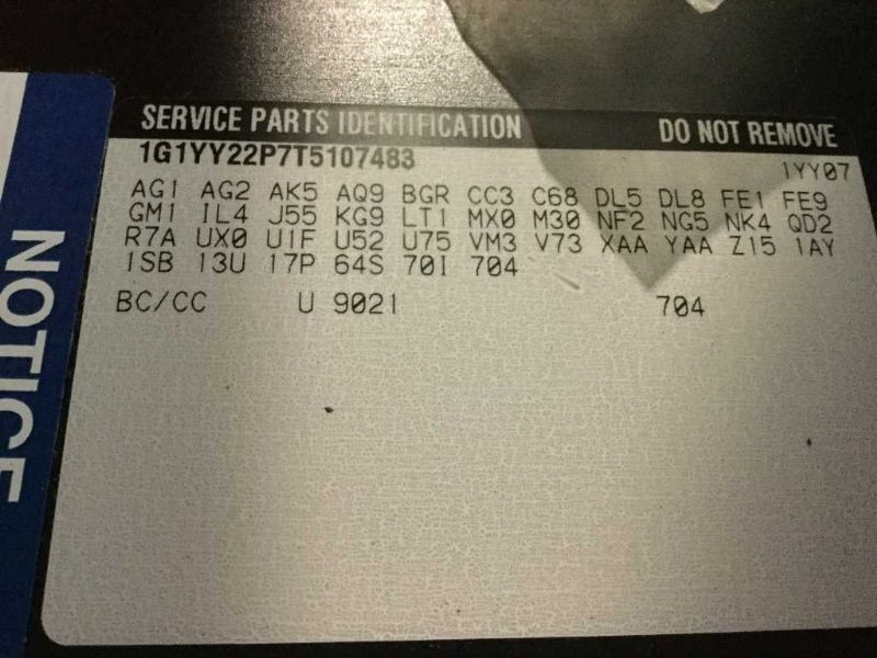 corvette c auxiliary fuse box wiring harness gm  1996 corvette c4 auxiliary fuse box wiring