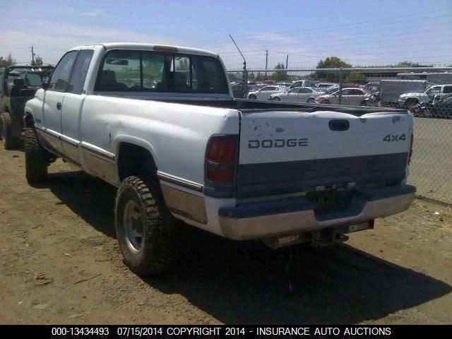 96 97 98 99 Dodge Ram 2500 Used 5 9l 4x4 2pc Rear Drive