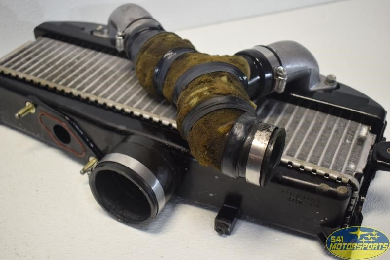2004 2005 subaru forester xt turbo top mount intercooler radiator ebay. Black Bedroom Furniture Sets. Home Design Ideas