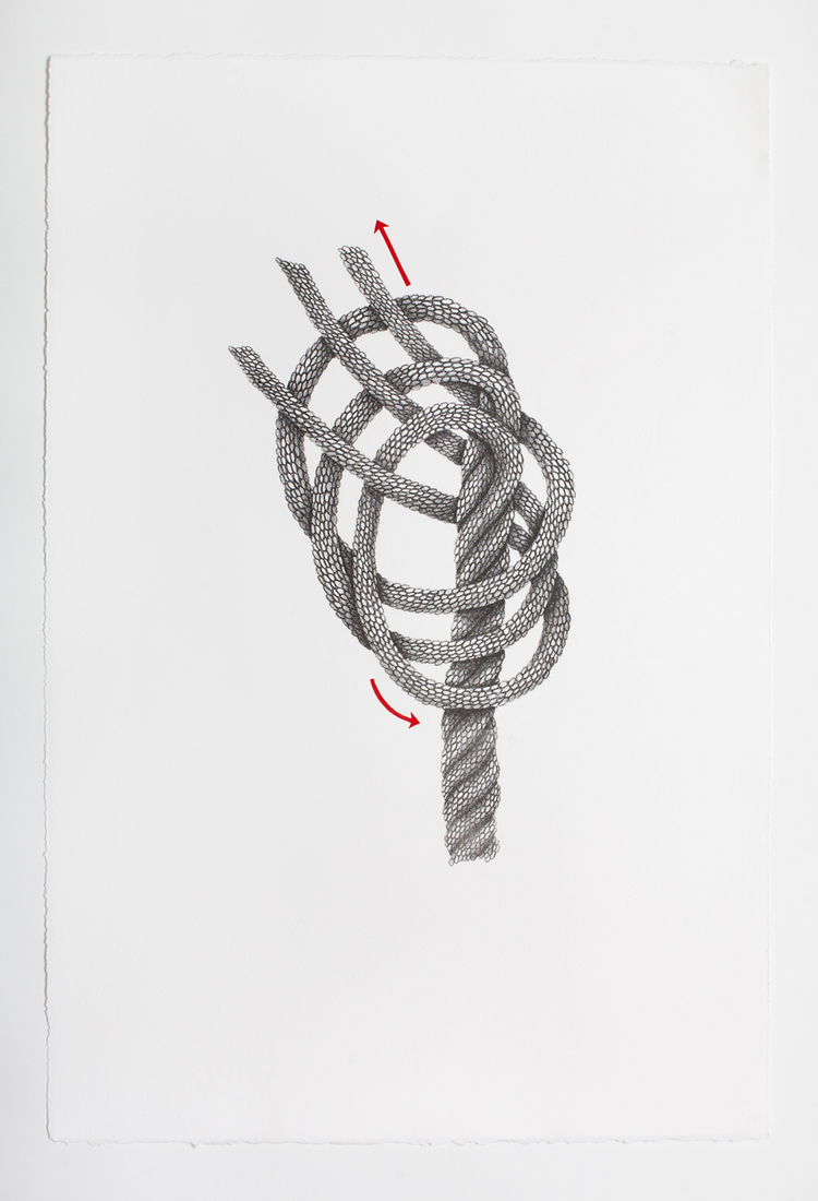 Works on Paper Untitled (Knot Diagram)