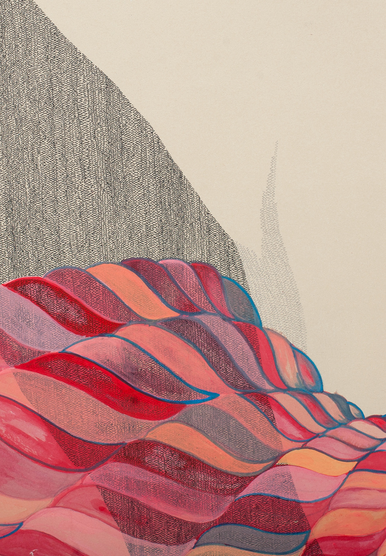Works on Paper Spiral (textural detail view)