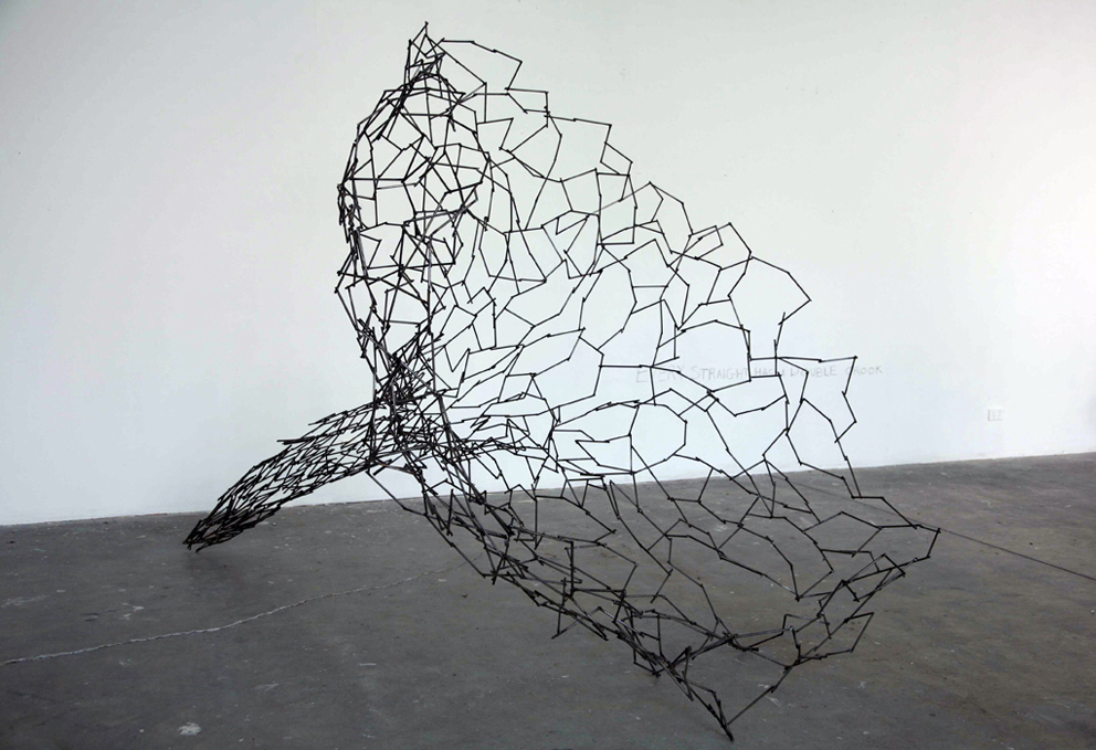 Every Straight Has a Double Crook (Cloud), welded metal, 2100mm x 1600mm x 1700mm, 2010.