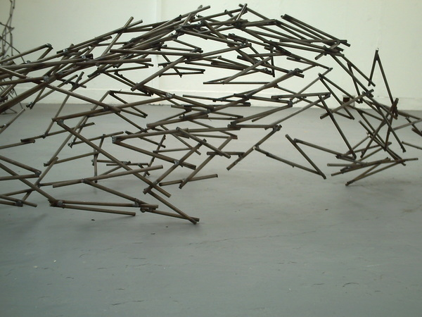 Every Straight Has a Double Crook (River), welded metal, 1100mm x 800mm x 600mm, 2010.