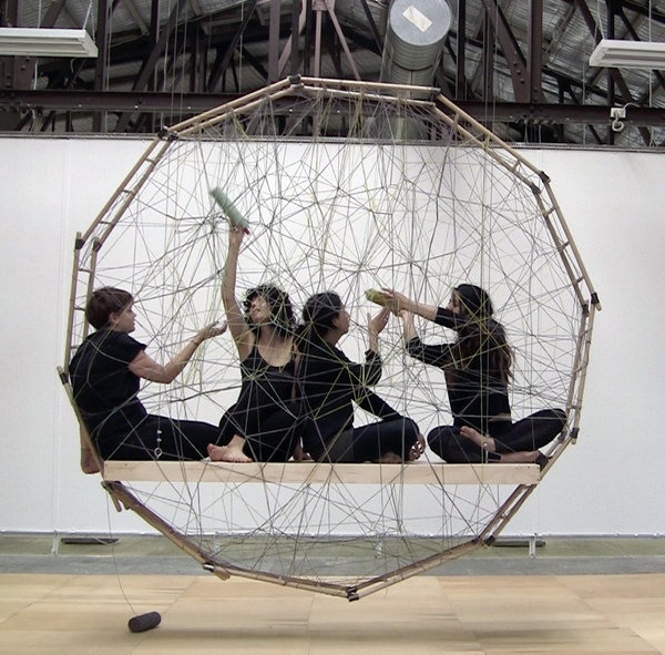 Weavers in the Floating Frame of Progressive Action – The Fates of Melbourne (Group 2), production still, 2011.