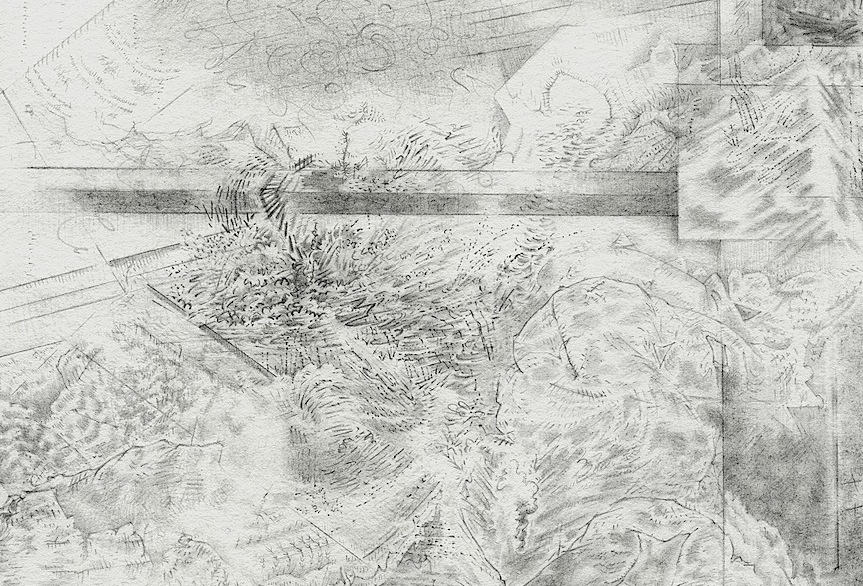 After the Disaster: Drawings Projected Landscape III Detail