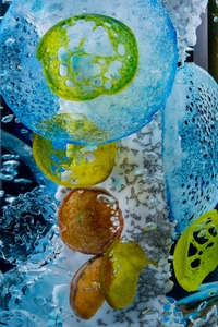 ARTicles Art Gallery Alison Sigethy glass and distilled water on lighted base