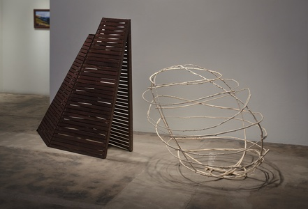 Barbara Jo The End of Time: Considering the Mayan Prophesy desert sumac, string, redwood, stain