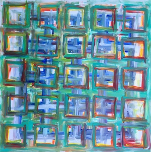 Barbara Mosher Geometric Abstract Acrylic