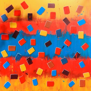 Barbara Mosher Geometric Abstract Mixed Media