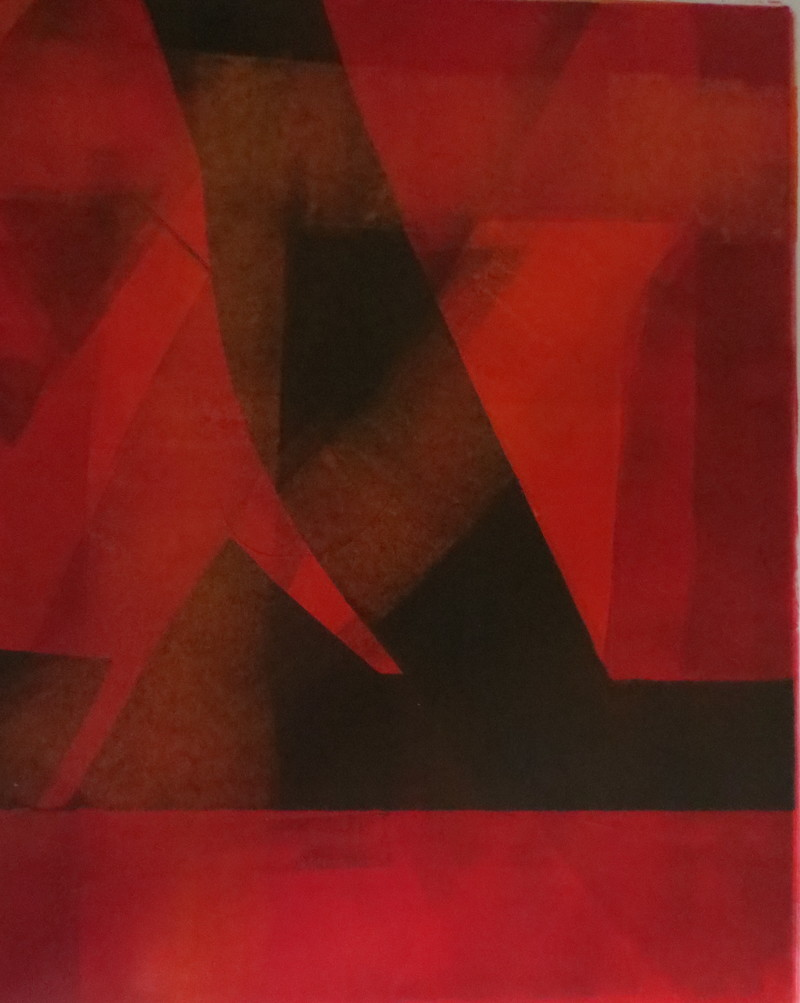 Barbara Shapiro Red and Black Monotype