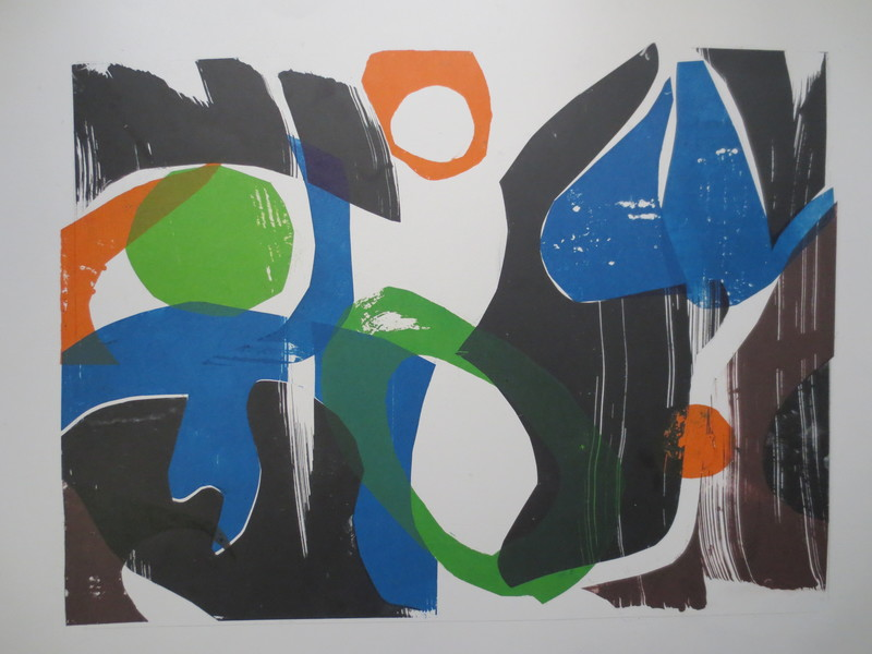 Barbara Shapiro Puzzle Pieces Pronto Plate Lithography