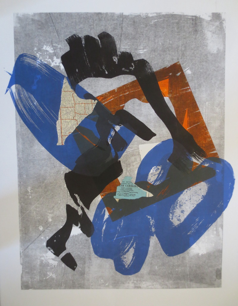 Barbara Shapiro Whirlwind Suite Pronto Plate Lithography with pasted paper