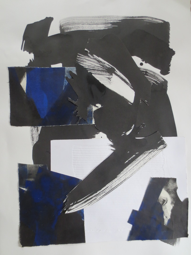Barbara Shapiro Collage Ink, Monotype, embossed paper