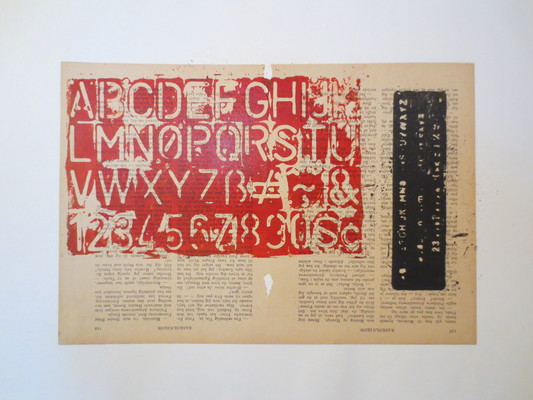 Barbara Shapiro In Other Words Mixed Media: Pronto Plate Lithography, Collage