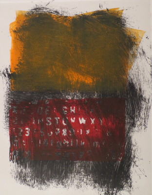 Barbara Shapiro In Other Words Monoprint: Pronto Plate Lithography,Monotype