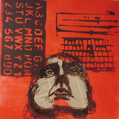 Barbara Shapiro In Other Words Mixed Media: Pronto Plate Lithography, Monotype, Collage,