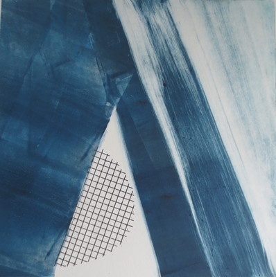 Barbara Shapiro Blue Suite Monotype