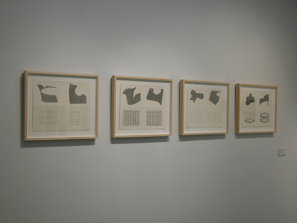 Barbara Jean Allen Installation  graphite on folded paper