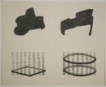 Barbara Jean Allen Small Drawings graphite on folded paper