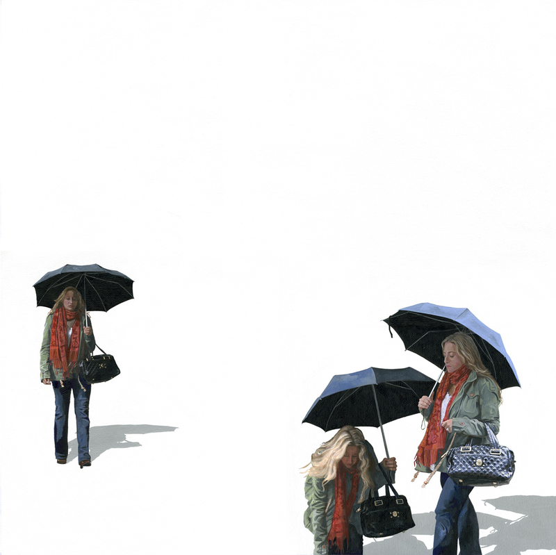carol k. brown pedestrians-on canvas acrylic on canvas