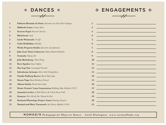Carol Padberg Pedagogical Dance Cards