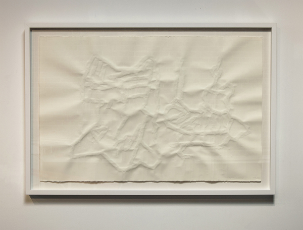 Catherine Fairbanks Works Embossed drawing, archival Rives paper and papier mache