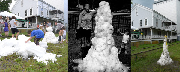 Works 800 lbs fresh snow brought to a summer performance festival