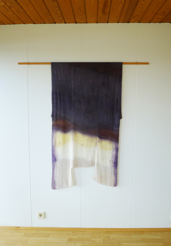 Catherine Fairbanks Empathomimesis Cotton, dye and Icelandic horseshoe mordant