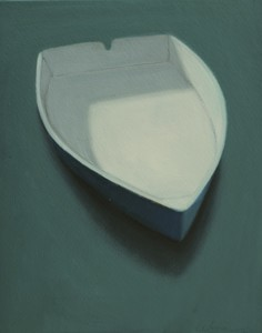 CELINE MCDONALD Boats oil on wood
