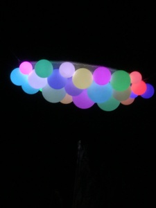Claudia Ravaschiere Installations and Public Art LED light globes, electronics
