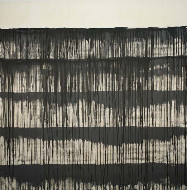 daisie hoitsma paired traces graphite and ink on panel