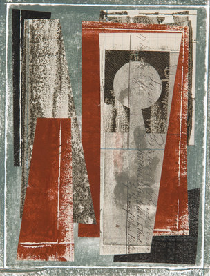 DANIEL ANSELMI Monhegan Island Residency  Monotype/Collage