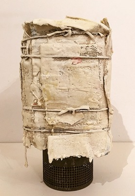 DANIEL ANSELMI Assemblages Wood, cloth, paint, twine, wax, metal