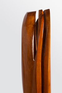 DAVID ERDMAN Available Works american cherrywood (prunus serotina) with polyurethane finish and black granite base 12 x 12 x 1""