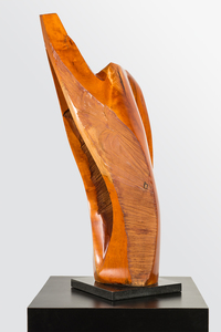 DAVID ERDMAN Available Works cherry wood with high gloss polyurethane finish and granite base