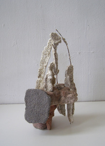 David McDonald Casting Amongst the Sands Hydrocal, Pigment, Wire, Sand
